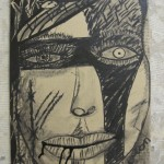 No title - Ink and charcoal on cardboard - 2013